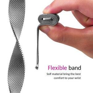 Image 3 - Meilleur Bracelet de boucle milanais pour Asus Zenwatch 3 Bracelet de remplacement daspiration magnétique accessoires de Bracelet de montre noir/argent/or