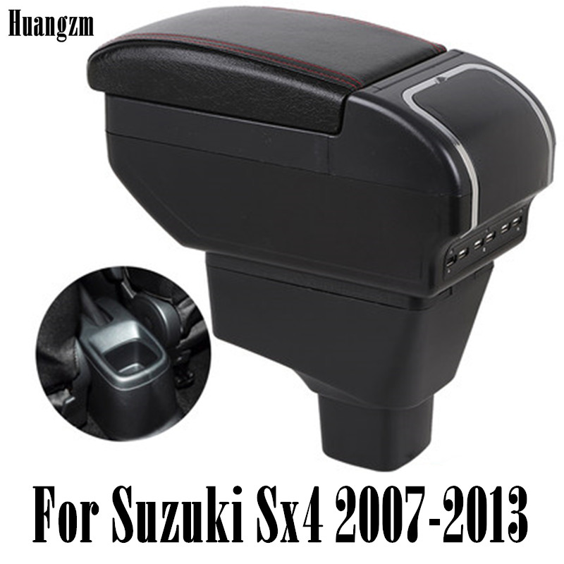 ArmRest For Suzuki Sx4 2007-2013 Center Centre Console Storage Box Armrest Rotatable 2008 2009 2010 2011 2012