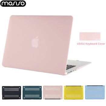 Mosiso Laptop Clear Matte Solid Case for Macbook Air 13 A1466 A1369 Notebook Hard Cover in Case 2015 2016 2017+Silicone KB cover laptop bag for macbook air 13 2018 model a1932 model laptop case sleeve cover for macbook air 13 3 mac a1369 a1466 notebook case