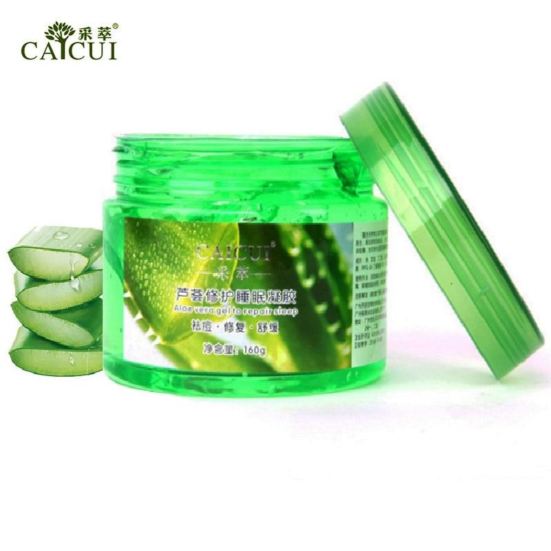 1pcs CAICUI Aloe Vera Plant Sleep Mask Gel Cream Repair Skin Face Mask Essence Relax Spirit Moisturizing Remove Acne Skin Care