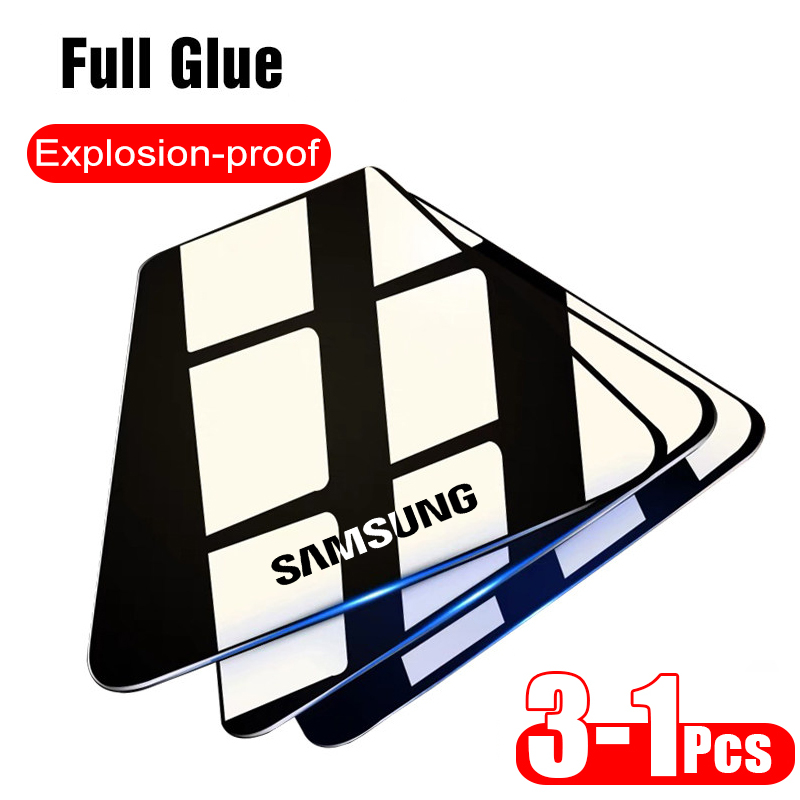 3PCS Tempered <font><b>Glass</b></font> for <font><b>Samsung</b></font> A51 A71 A50 A01 A10 A10s A20 A21 A31 M31 M21 A40 A41 A70 Screen Protector Galaxy <font><b>A</b></font> <font><b>40</b></font> 50 A51 9H image