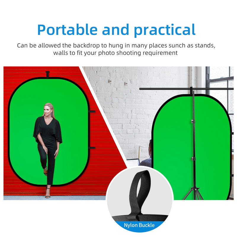 Selens Collapsible Backdrop 59x39.3inches Pop Up Blue Grey Background with Carrying Bag for YouTube Streaming Photo Studio Product Photography