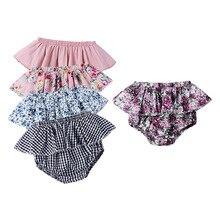 Baby Summer Short-Pants Ruffle Girls Cute PP Print Ins Babe Elastic Plaid Hot