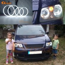 цена на For Volkswagen Touran 2003 2004 2005 2006 Excellent Angel Eyes Ultrabright headlight illumination ccfl angel eyes kit Halo Ring