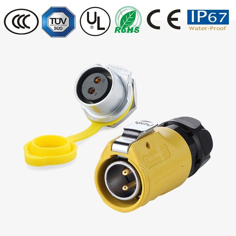 M20 IP67 Водонепроницаемый быстроразъемный Электрический 2-12 контактный панельный Монтажный провод к плате 12 В постоянного тока, разъем питани...