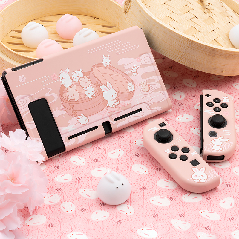 Cute Cartoon TPU Soft Protective Case Shell For Nintendo Switch Game Console Pink Cover Shell For Nintend Switch