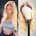 Объемная волна парик с головной повязкой для черные женские синтетический парик с головной повязкой Косплэй устойчивые к воздействию тепл...