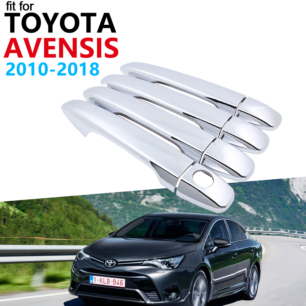 Door Handle Car Accessories for Toyota Avensis T270 2010~2018 Chrome Handle Cover Trim Set Car Stickers 2017 2016 2015 2014 2013|Car Stickers| |  - title=