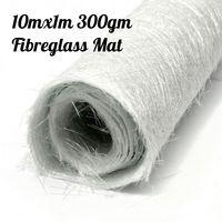 Wholesale 10x1m 300gsm Glass Fiber Cloth alkali free Fiberglass Chopped strand mat For GRP Resin