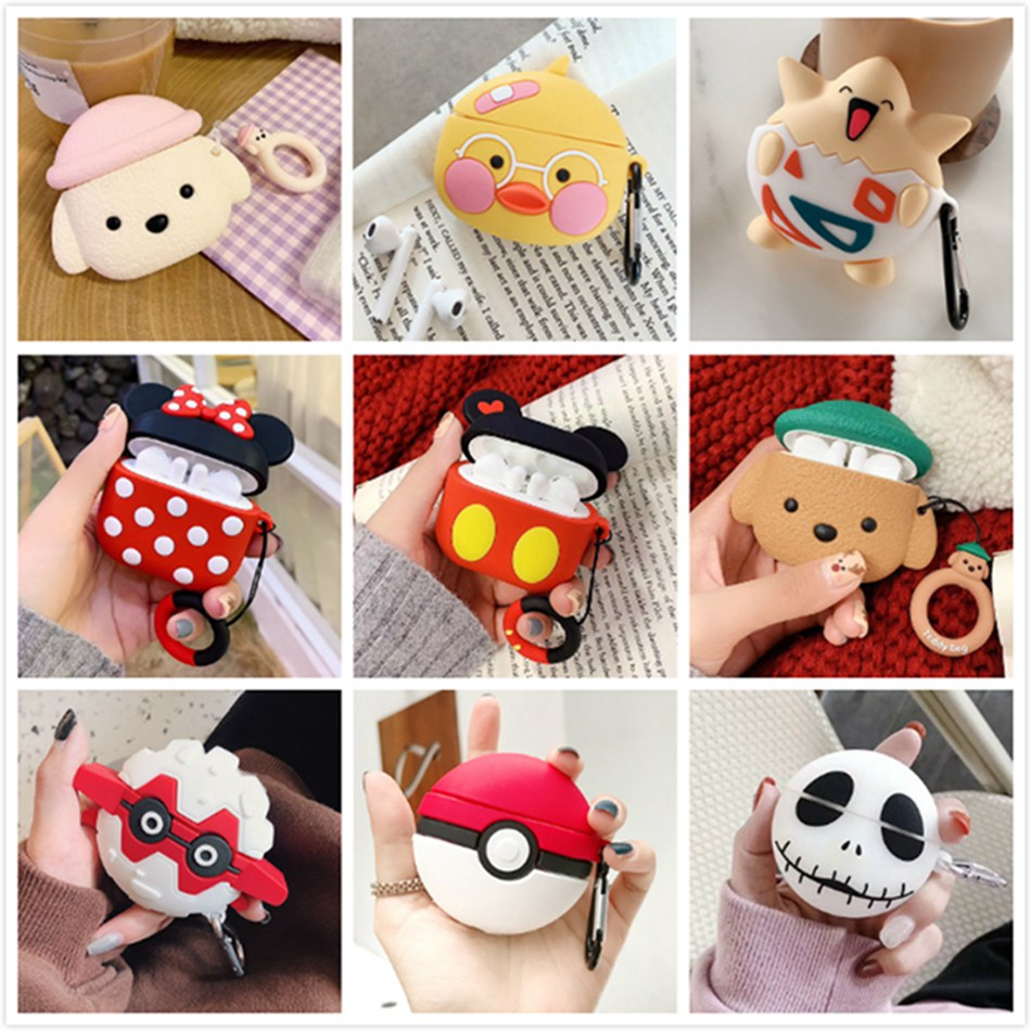 3D Earpods Case For Huawei Freebuds 3 Case Silicone Cute Duck Toast Cartoon Cover For Huawei Freebuds 3 Pro Cases With Keychain
