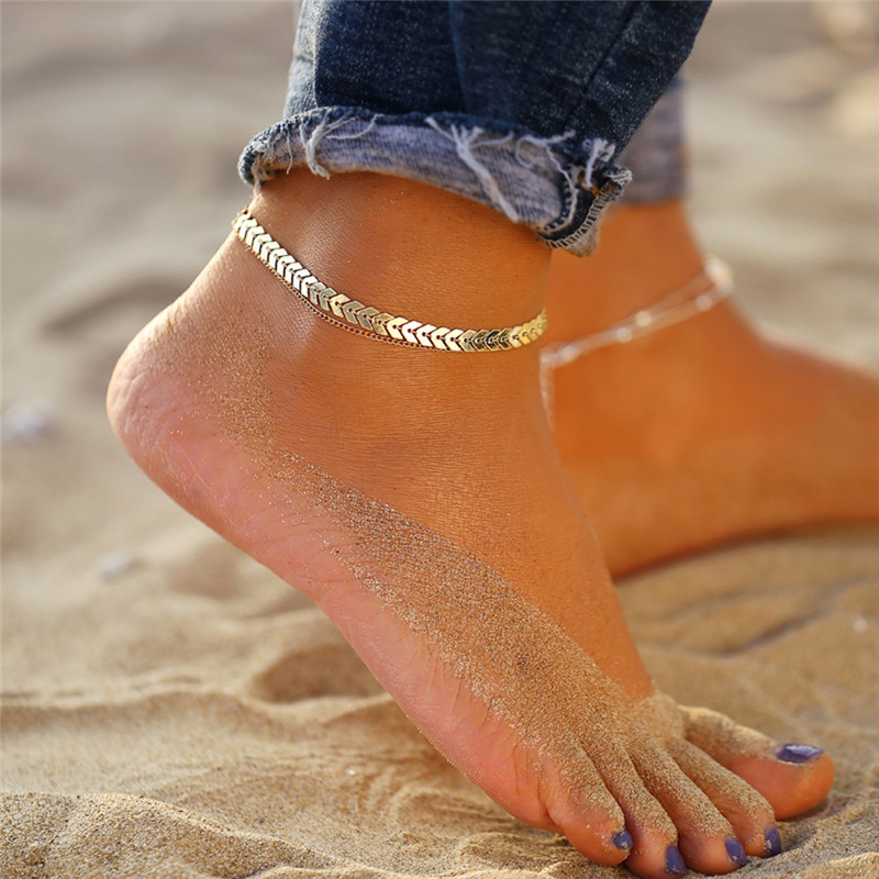 17KM Bohemian Colorful Eye Beads Anklets For Women Gold Color Summer Ocean Beach Ankle Bracelet Foot Leg Chain Jewelry 2021 NEW
