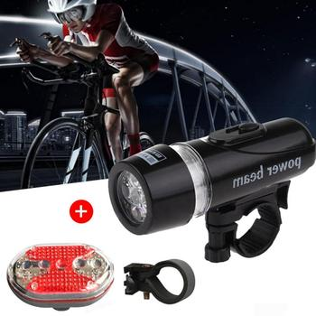 Bicycle Light Oval Taillight Kit Waterproof 5 LED Bike Headlight Front Flashlight LED Taillight Rear Light Bicycle Light Cycling image