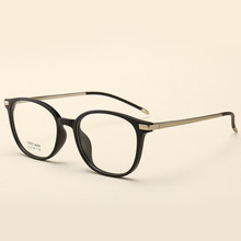 Vintage Round Glasses College Style Clear  Ultra Light Spring Frames Flat Mirror