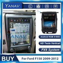 2 Din Android Tesla Stil Auto GPS Navigation Video Für Ford Raptor F150 2009-2012 Auto Radio Stereo Multimedia player Kopf Einheit