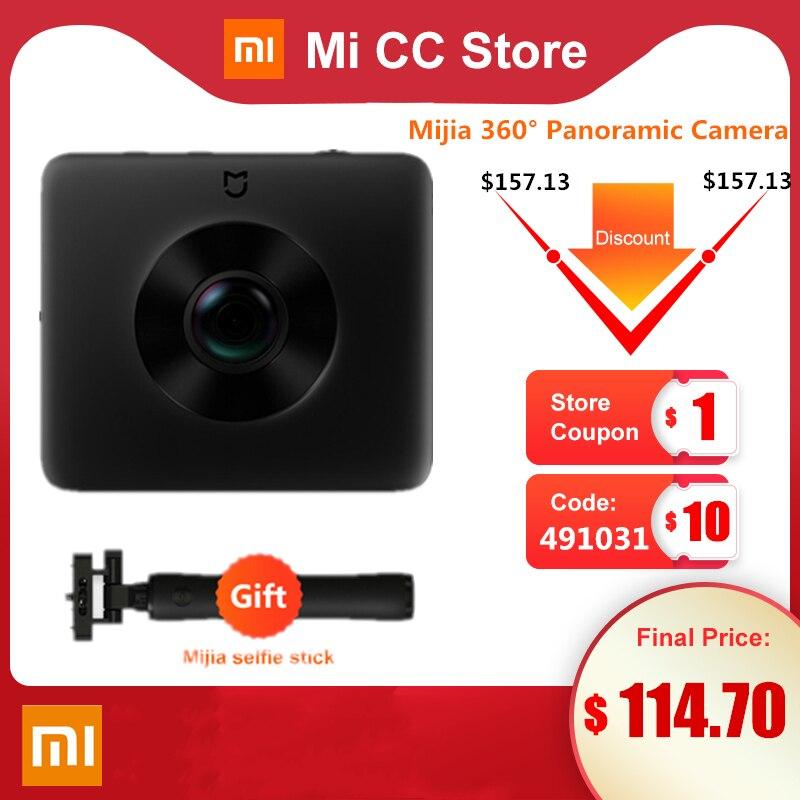 Em estoque xiaomi mijia 360 ° câmera panorâmica 3.5k gravação de vídeo esfera câmera ip67 classificação wifi bluetooth mini esporte filmadora