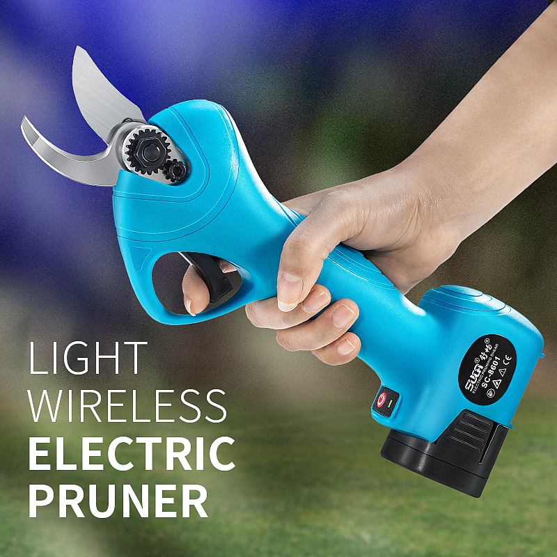 YODOO 21V Electric Pruning Shears Garden Tool Branches Pruning Tools Fruit Tree Bonsai Pruning Electric Tree Branches Cutter