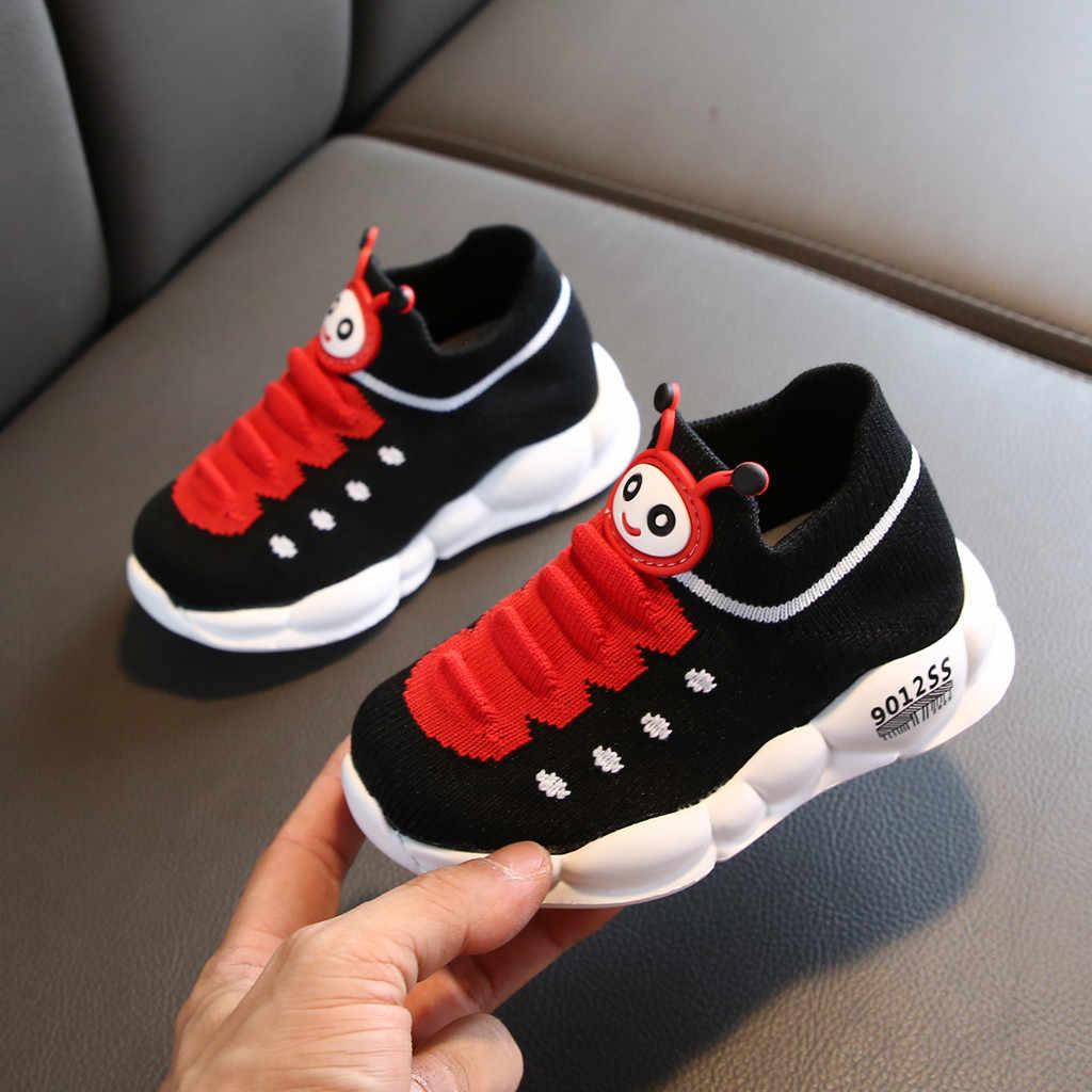 Kids Schoenen Meisjes Jongens Sport Stretch Mesh Kinderen Cartoon Baby Meisjes Platte Schoenen Baby Running Kids Sneakers Zapatillas Nino