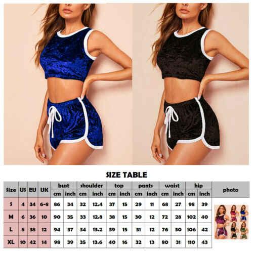 Baru Fashion Sexy Wanita 2 Buah Set Baju Olahraga Wanita Lari Olahraga Aktif Pakaian Rumah Ukuran S-XL