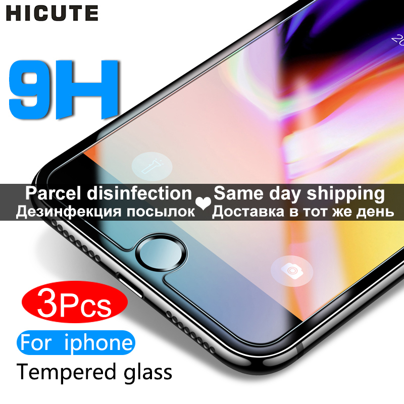 Protective Tempered Glass For Iphone 7 6 6s 8 Plus 11 Pro XS Max XR X Glass Iphone 7 8 X Screen Protector Glass On Iphone 7 6S 8