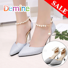 Women Shoelaces for High Heels Pearl Heels Band Shoe Belt Ankle Holding Loose Anti-skid Bundle Tie Straps Band Shoes Decoration charm women creative design convenient leather shoes belt ankle shoe tie lady strap lace band for holding loose high heels