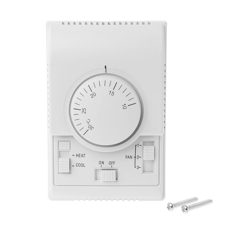 AC 220V Room Mechanical Thermostat Control Switch Air Conditioner Fan Coil Temperature Controller A5YD