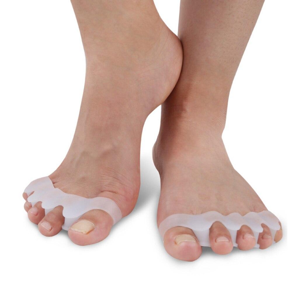 1 Pair Silicone Foot Care Inserts Pad Bunion Protector Toe Separators Straightener Spreader Correctors Hallux Valgus Correction