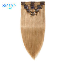 SEGO 10 24 110g 170g Straight Clip In Human Hair Extensions 100% Real Human Hair 8pcs/set Double Weft Non Remy Clip Ins