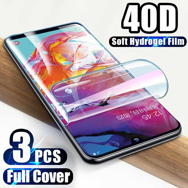 3Pcs 40D Screen Protector For Samsung Galaxy Note10 S9 S8 S10 Plus S10e A50 Full Cover For Samsung Note 8 9 S7 Edge Soft Film