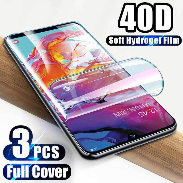 3Pcs 40D Screen Protector For Samsung Galaxy Note10 S9 S8 S10 Plus S10e Lite Full Cover