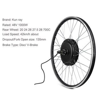 Rueda delantera del Motor 48V, 500W/1000W, Kit de conversión de Bicicleta eléctrica,...