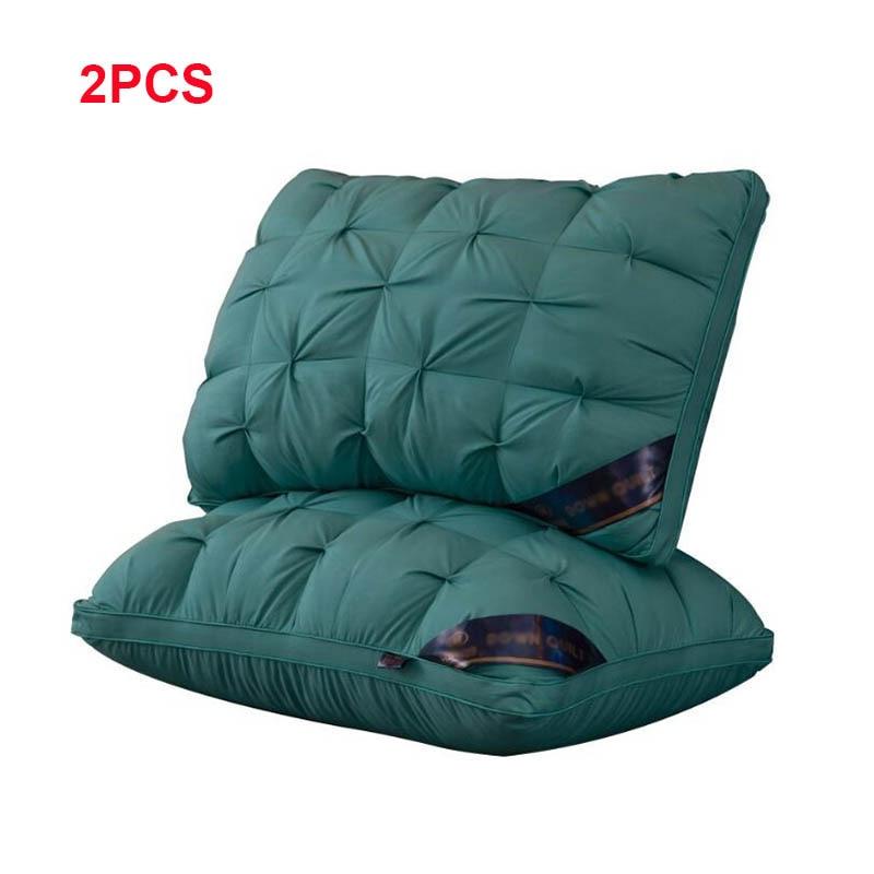 Роскошная прямоугольная серо розовая темно зеленая подушка для постельного белья с гусиным/утиным пухом в 3D стиле, подушка с защитой от пуха, средней и низкой длины|Подушки на кровать| | АлиЭкспресс