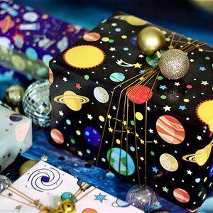 1 шт. 70x50 см Индивидуальная Вселенная, планета, космос, узор, оберточная бумага для подарков для детей, фотобумага|Украшения своими руками для вечеринки|   | АлиЭкспресс