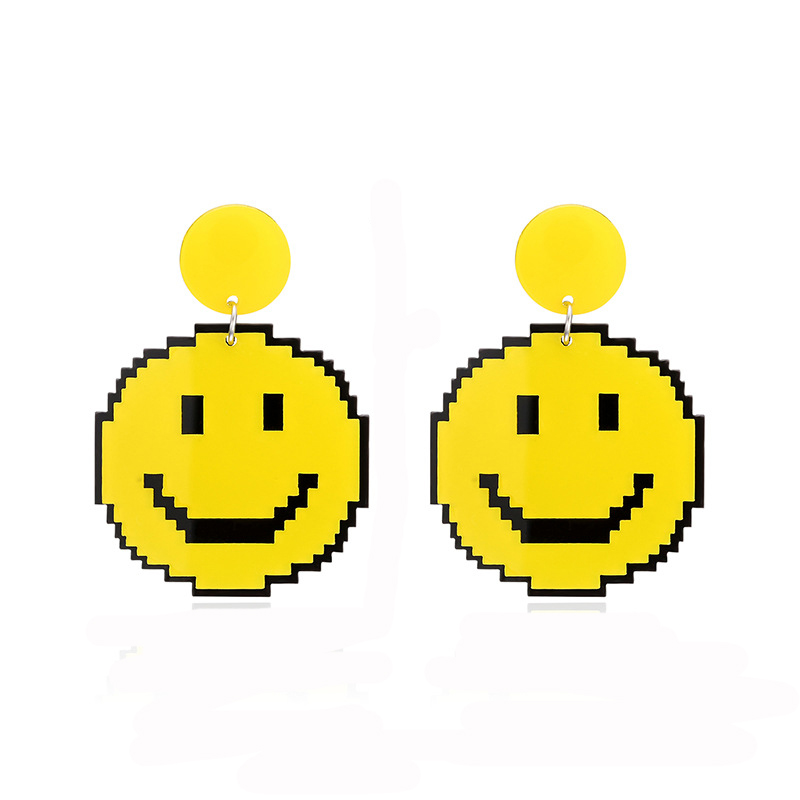 Yellow Smile Earrings