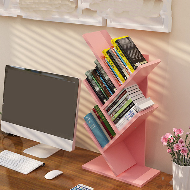 Bookcase Tree Shaped Display Shelf 3