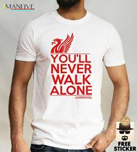 Liverpool T Shirt YouLl Never Walk Alone Football Fan Club Ynwa Mens Gift Tee T-Shirt for Male Short Sleeves Classic