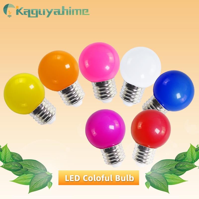 Kaguyahime 1Pcs Colorful E27 Bulb Led 3W Lamp E27 Globe Lampada AC 220V SMD 2835 RGB Flashlight G45 Led Spot Light Bomlillas