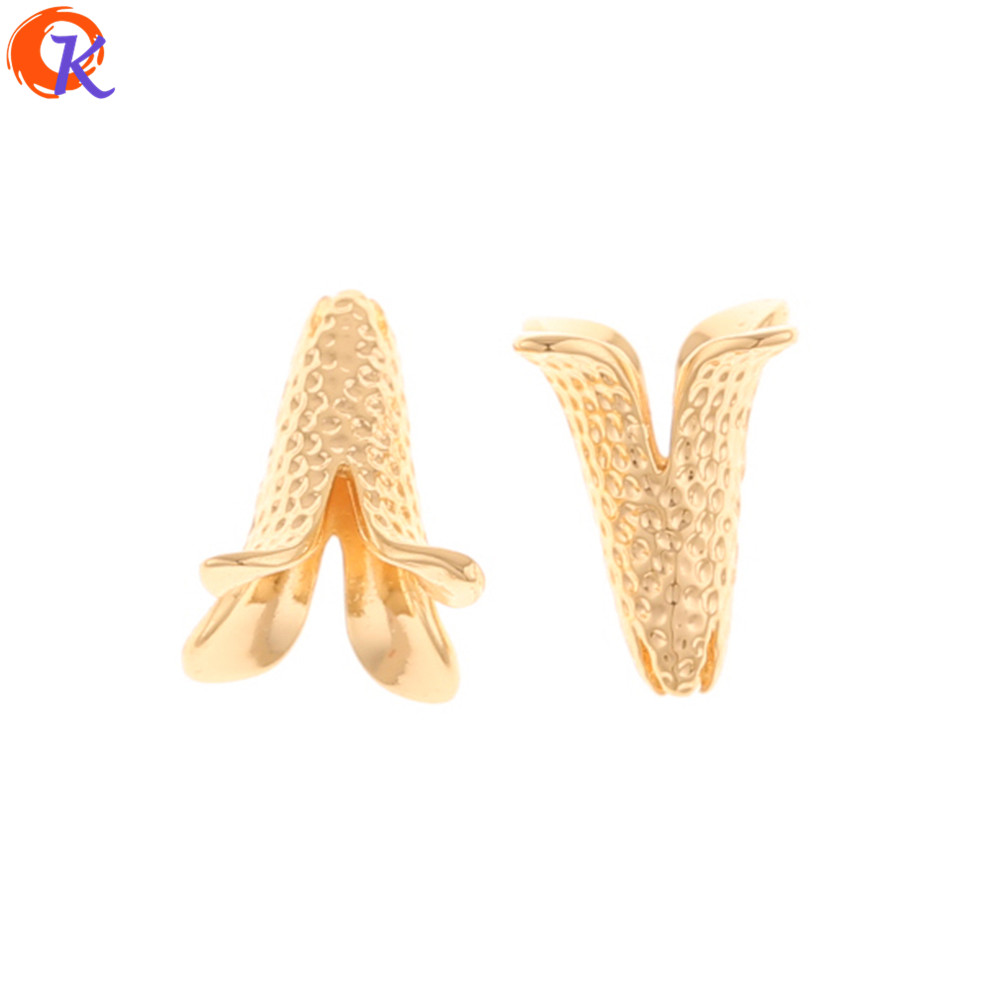 Cordial Design 30Pcs 11*15MM Jewelry Accessories/Hand Made/Flower Shape/Genuine Gold Plating/DIY Making/Earring Findings
