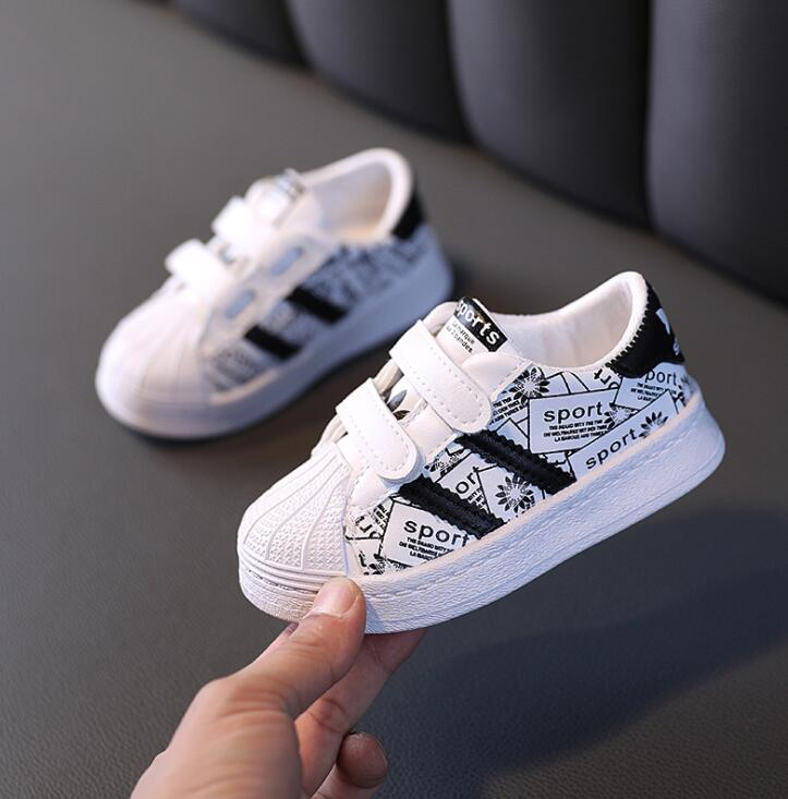 Autumn Kids Sport Shoes Boys Girl Sneakers Baby Children Shoes Fashion White Flat Sport Breathable Toddler Casual Student Shoes 2