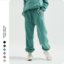 Harlem Pants Sweatshirt Track Winter Fleece Casual Hot Solid Drawstring Thicker Knitted