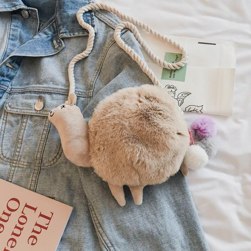 Plush Lady Girls Phone Bag Cute Hamster Purse Kids Cross Body Cartoon Handbag
