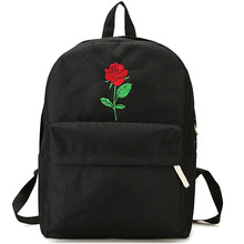 Men Heart Canvas Backpack Women School Bag Backpack Rose Embroidery Backpacks for Teenagers Women's Travel Bags Mochilas women backpack cute fashion rose embroidery flower backpacks for teenagers 2018 high quality pu women s bag mochilas school bags