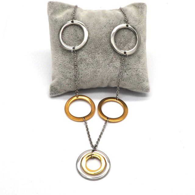 Circle Round jewelry set, Earring Necklace Pendant DUOCAIX 5