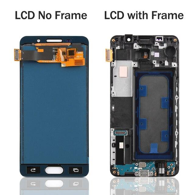 LCD A310 de 4,7 pulgadas para SAMSUNG Galaxy A3 2016 A310 A310F A3100 reemplazo de pantalla táctil LCD pantalla A310F con marco