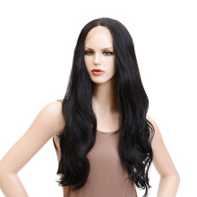 Alizing Lace Front Wig Big Wave Black Color T Part lace frontal Synthetic Hair Hige Temperature Fiber Long  Wigs k010
