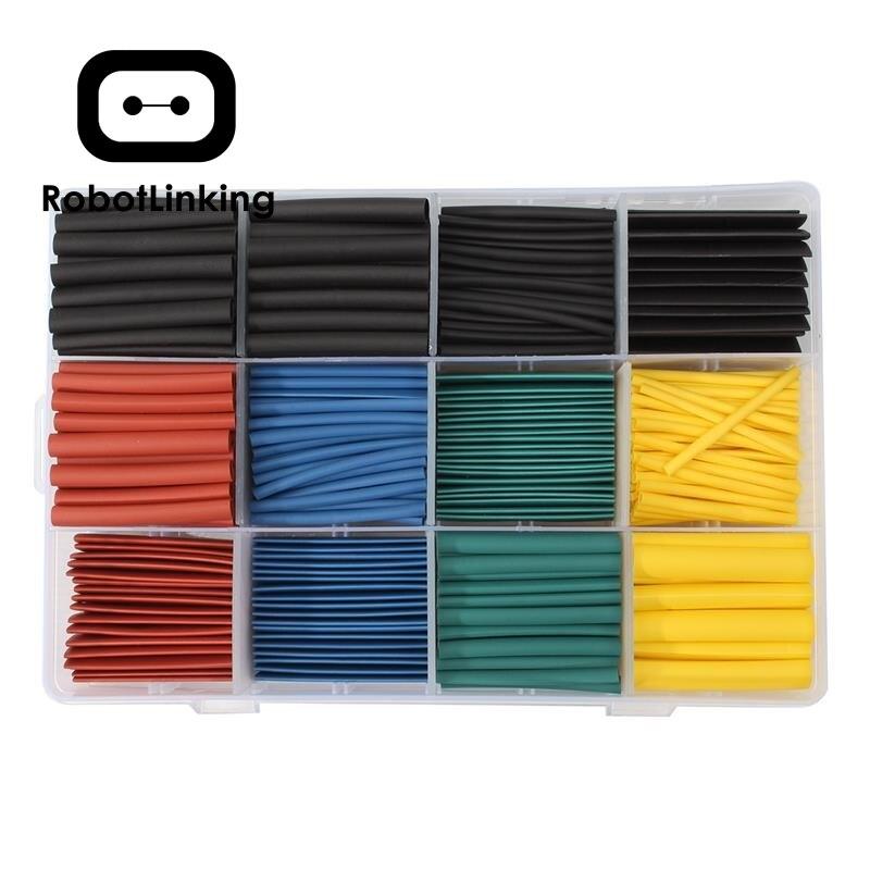 New 530pcs Multi Color Heat Shrink Tubing Insulation Shrinkable Assortment Electronic Polyolefin Ratio 2:1 Wrap Sleeve Tube Kit