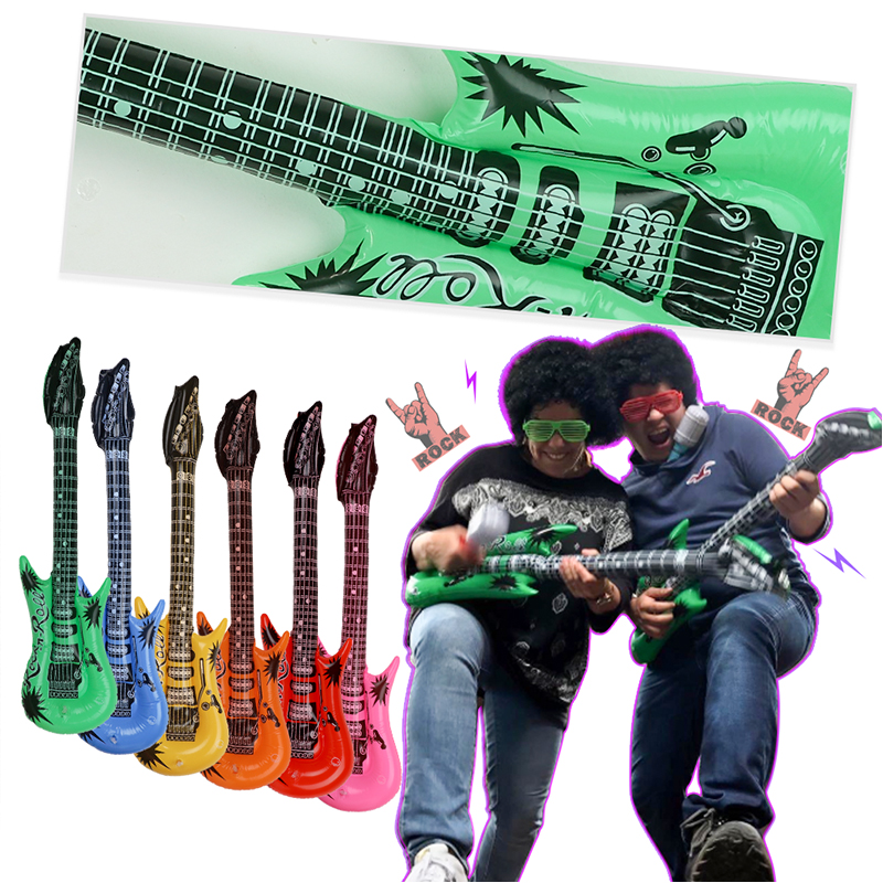 Image 3 - 25pcs 50s Rock Party Supplies Rock and Roll Star Party Backdrop Rock Toy Set Music Party Props for Birthday Party decorationsParty DIY Decorations   -