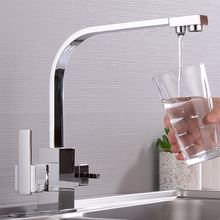 Кухонный смеситель с черным фильтром кран для питьевой воды