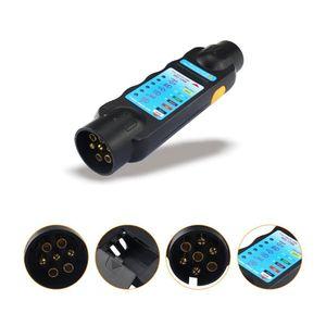 Image 3 - Ferramenta durável do teste da luz do circuito da fiação do verificador da tomada do reboque do caminhão do carro de 12v 7 pinos para o europeu