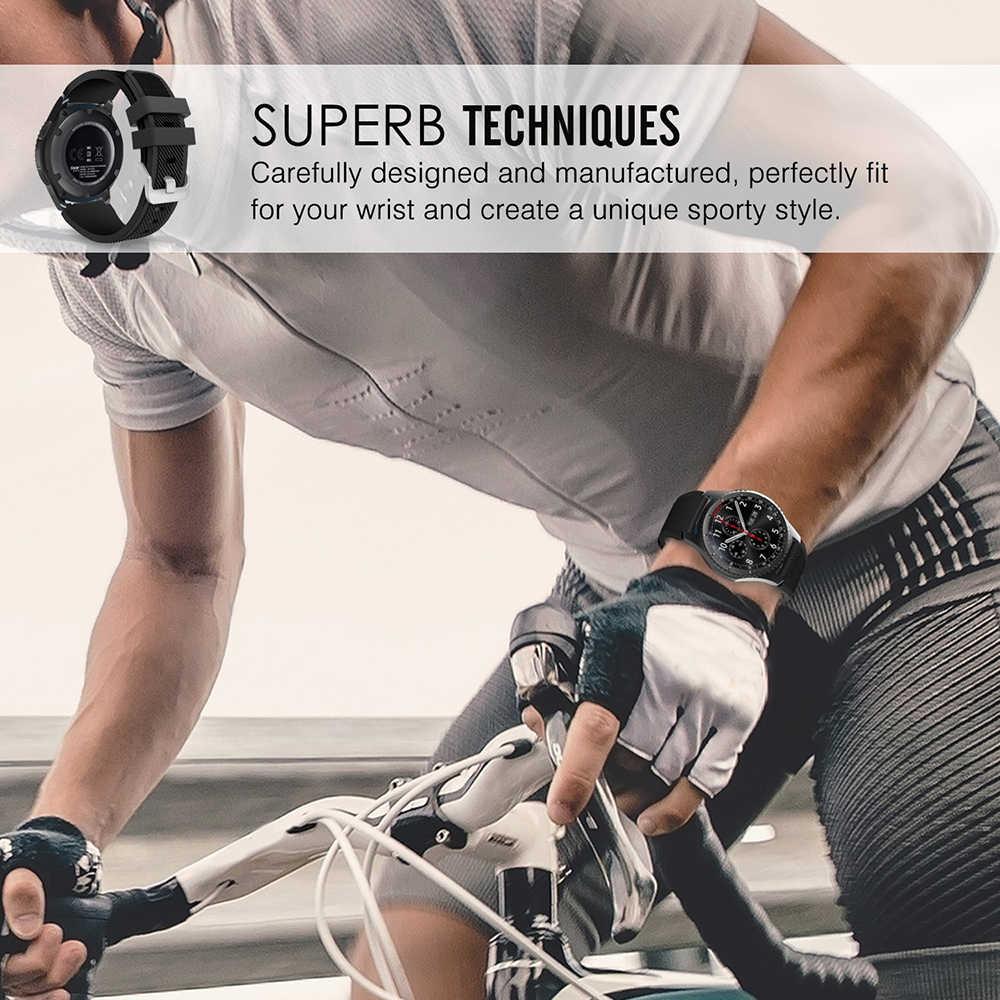 UEBN 22mm 20mm Silicone Sport étanche remplacement bracelet de montre pour Garmin Vivoactive 3 Samsung Gear S2 S3 bracelet bracelets de montre