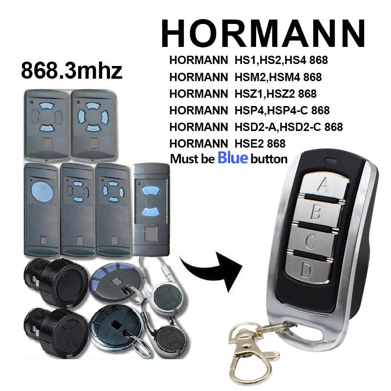 HORMANN 868 MHz Garage Door Remote Control Hormann HSM2, HSM4 868 Garage Door Opener Command Gate Control NEW 2020